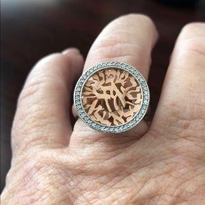 EFFY 14K White And Rose Gold Diamond Ring